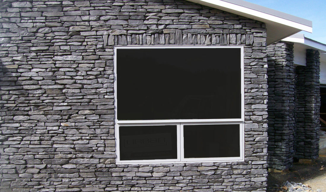 Mountain Shale Stone Profile in a Custom Alpine Grey Colouring