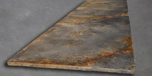 This fire hearth is 1900 x 600mm based on our Grey Rust Colouring