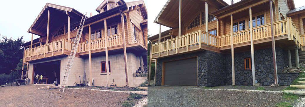 High Country Boulder Before and After