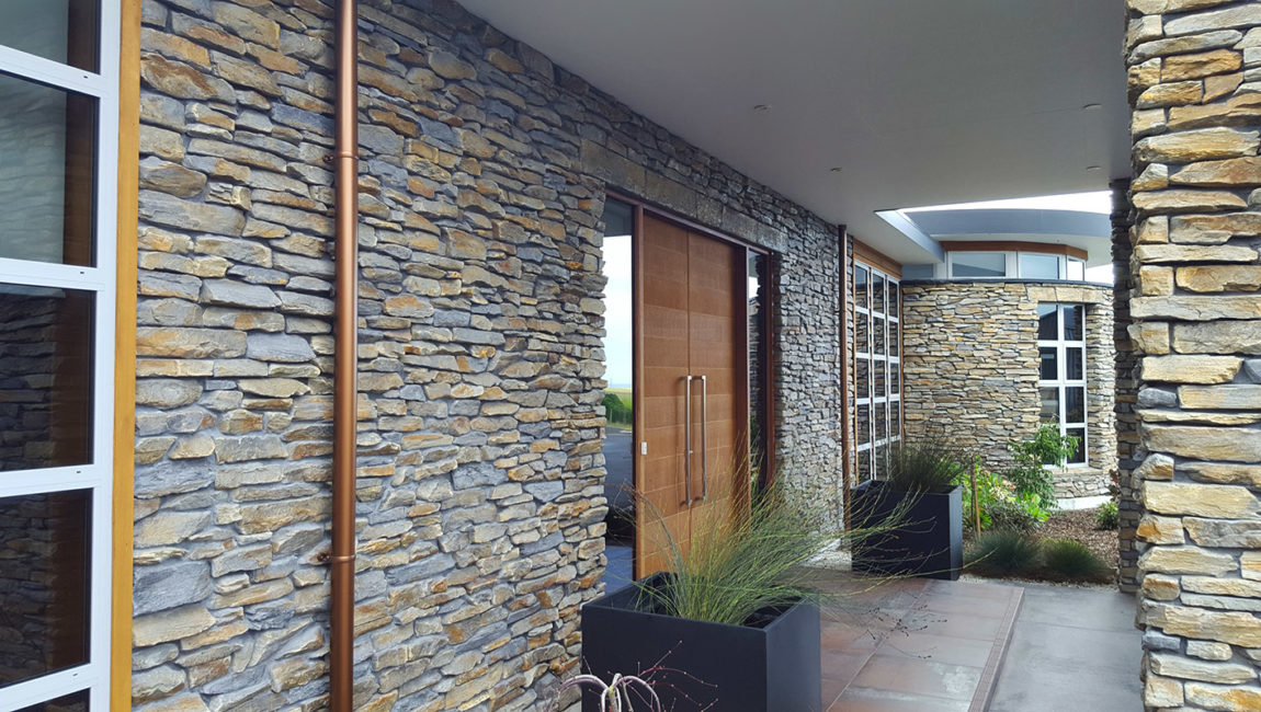 Mountain Shale Stone Profile in Tarras and Grey Blend Colouring