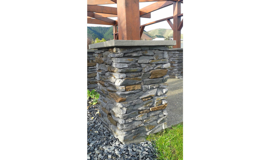 Mountain Shale Stone Profile in Queenstown Grey and Central Brown Blend Colouring