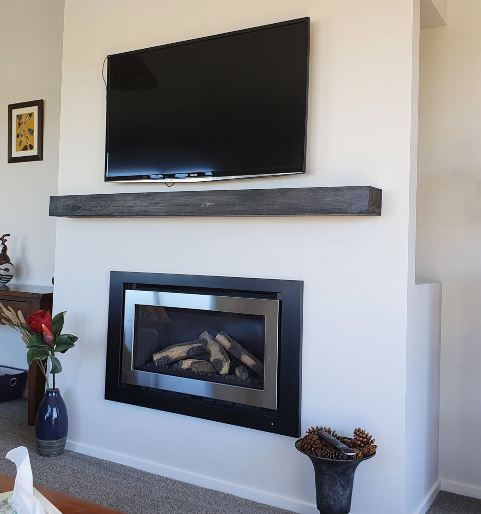 Classic Mantel with TV
